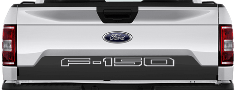 Ford F-150 2015 Tailgate Lower Blackout on Vehicle