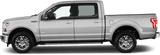 Ford F-150 2015 Upper Door Accent Side Stripes on Vehicle