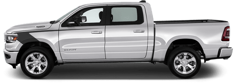 Dodge RAM 1500 2019 Fender Hockey Stripes on Vehicle