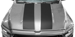 Dodge RAM 1500 2019 Hood Cowl Stripes on Vehicle