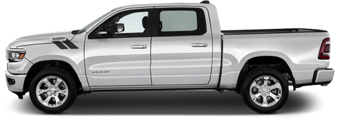 Dodge RAM 1500 2019 Hood to Fender Hash Stripes on Vehicle