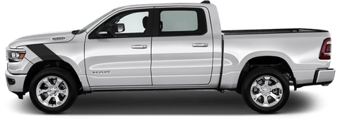 Dodge RAM 1500 2019 Le Mans Fender Stripes on Vehicle