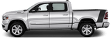 Dodge RAM 1500 2019 Tail Rocker Accent Stripes on Vehicle
