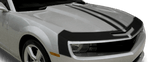 Chevy Camaro 2010 Upper Fascia & Hood Stripes on Vehicle