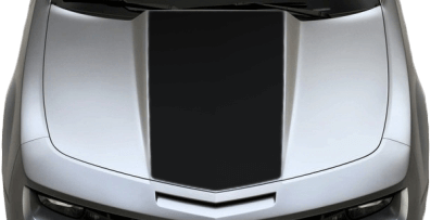 Chevy Camaro 2010 Center Hood / Cowl Decal on Vehicle