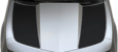 Chevy Camaro 2010 Hood Side Blackouts / Stripes on Vehicle