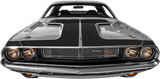 Dodge Challenger 1970 Hammerhead Hood Blackout on Vehicle