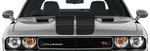 Dodge Challenger 2008 Blacktop '16 Rally Stripes Kit on Vehicle