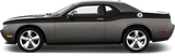Dodge Challenger 2008 Full Length Upper Body Stripes on Vehicle
