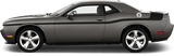 Dodge Challenger 2008 MOPAR 14 Style Side and Trunk Stripes on Vehicle