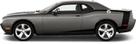 Dodge Challenger 2008 Reverse C Side Pinstripes on Vehicle