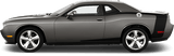 Dodge Challenger 2008 Reverse C Side Stripes on Vehicle