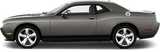 Dodge Challenger 2008 Rocker Panel Stripes on Vehicle