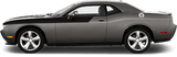 Dodge Challenger 2008 Front Upper Body Partial Stripes on Vehicle