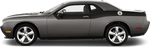 Dodge Challenger 2008 Rear Upper Body Partial Stripes on Vehicle