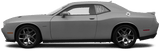 Dodge Challenger 2008 Rear Side Window Simulated Louvers on Vehicle