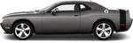 Dodge Challenger 2015 Rear Bumblebee Tail Stripes on Vehicle