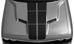 Dodge Challenger 2015 Blacktop '16 Rally Stripes Kit on Vehicle