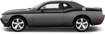 Dodge Challenger 2015 Full Length Slim Upper Body Stripes on Vehicle