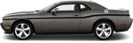 Dodge Challenger 2015 MOPAR 10 Style Beltline Stripes on Vehicle