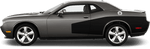 Dodge Challenger 2015 Rear Billboard Side Stripes on Vehicle