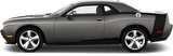 Dodge Challenger 2015 Reverse C Side Stripes on Vehicle