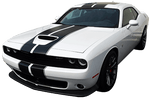 Dodge Challenger 2015 Rally Racing Dual Stripes Kit on Vehicle
