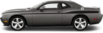 Dodge Challenger 2015 Redline Side Stripes OEM Style on Vehicle