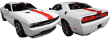 Dodge Challenger 2015 Redline Rally Racing Stripes Kit on Vehicle