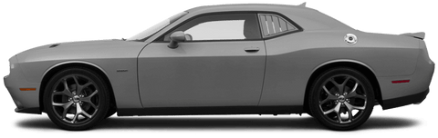 Dodge Challenger 2015 Rear Side Window Simulated Louvers on Vehicle