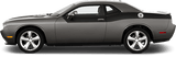 Dodge Challenger 2015 Rear Upper Body Partial Stripes on Vehicle