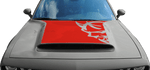 Dodge Challenger 2015 SRT Demon Power Bulge Hood Decal on Vehicle