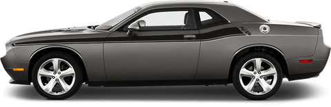 Dodge Challenger 2015 '15 RT Classic Stripes on Vehicle