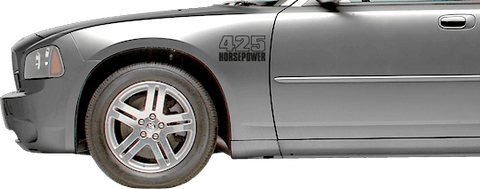 Dodge Charger 2006 Front Fender Callouts on Vehicle
