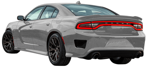 Dodge Charger 2015 Rear Bumper Vent Accents on Vehicle