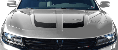 Dodge Charger 2015 Hockey Stick Hood Accent Stripes on Vehicle