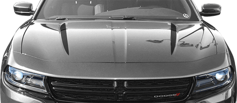 Dodge Charger 2015 Hood Spears on Vehicle