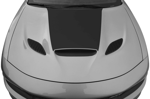 Dodge Charger 2015 SRT Hellcat / SRT 392 / R/T Scat Pack Power Bulge Hood Decal on Vehicle