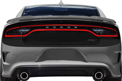 Dodge Charger 2015 Rear Complete Blackout Decals on Vehicle