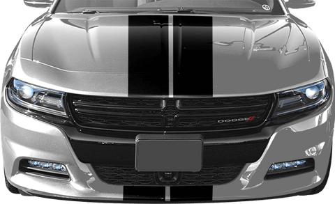 Dodge Charger 2015 Rally Racing Dual Stripes Kit on Vehicle