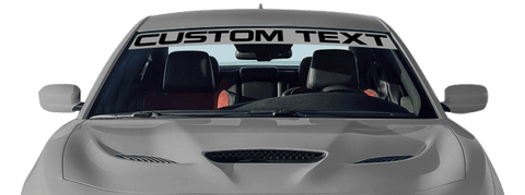 Dodge Charger 2015 Windshield Visor Strip / Text on Vehicle