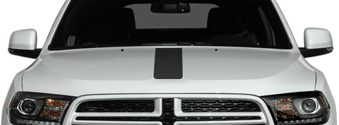 Dodge Durango 2011 Hood Center Stripes on Vehicle