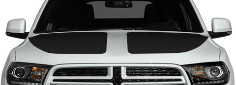 Dodge Durango 2011 Main Hood Decals on Vehicle