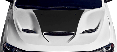 Dodge Durango 2011 SRT Power Bulge Hood Decal on Vehicle