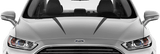 Ford Mondeo 2014 Bonnet Spear Stripes on Vehicle