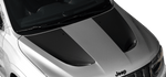 Jeep Grand Cherokee 2011 SRT Hood Vent Stripes on Vehicle