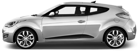 Hyundai Veloster 2011 Lower Side Scallop Accents on Vehicle