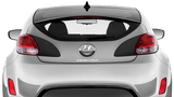 Hyundai Veloster 2011 Rear Light Recess Blackouts on Vehicle