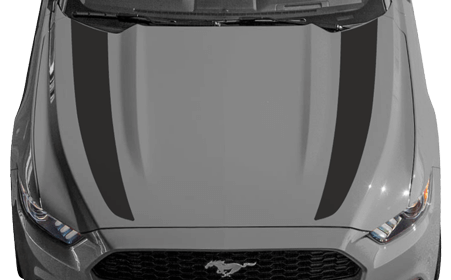 Ford Mustang 2015 Hood Side Accent Stripes on Vehicle