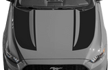 Ford Mustang 2015 Inverted Spear Hood Stripes on Vehicle